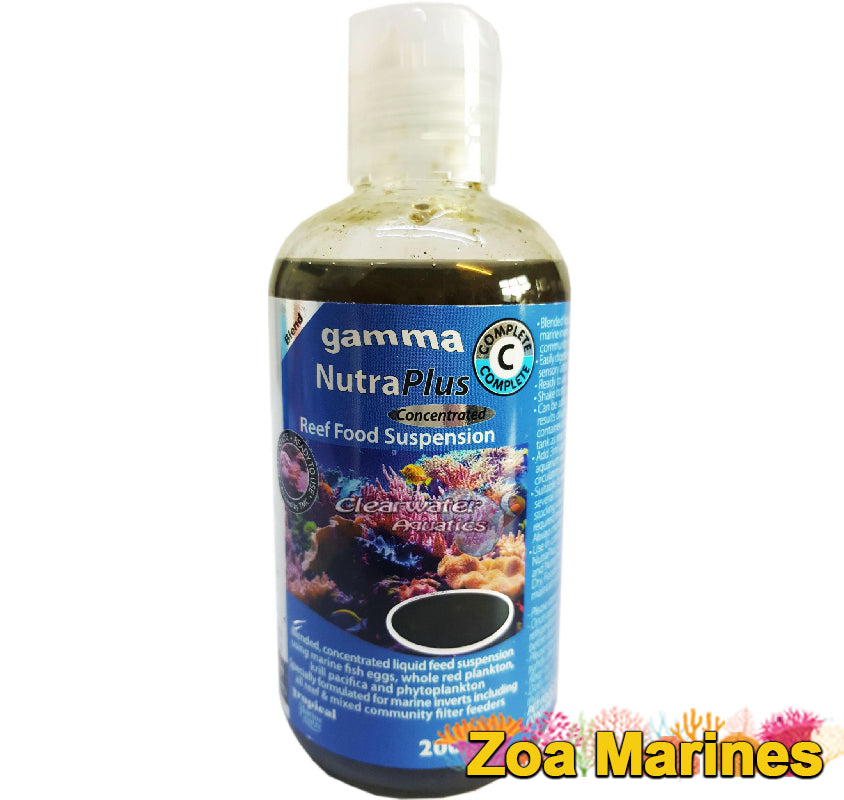 Gamma NutraPlus Food Suspensions 100ml VARIOUS Coral Feeds