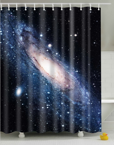 Enter Another Dimension Universe Shower Curtain