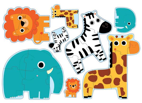 Djeco,Progressive Puzzles- Primo Puzzle in Jungle,CouCou,Toy