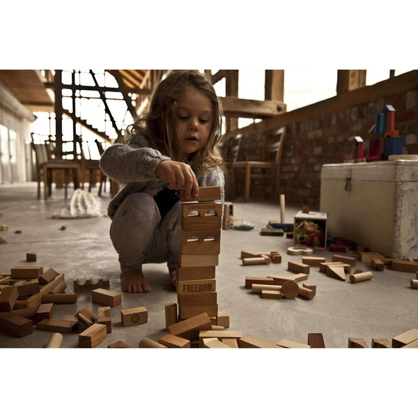 Wooden Story,Natural Blocks XL, 50 Pieces,CouCou,Toy