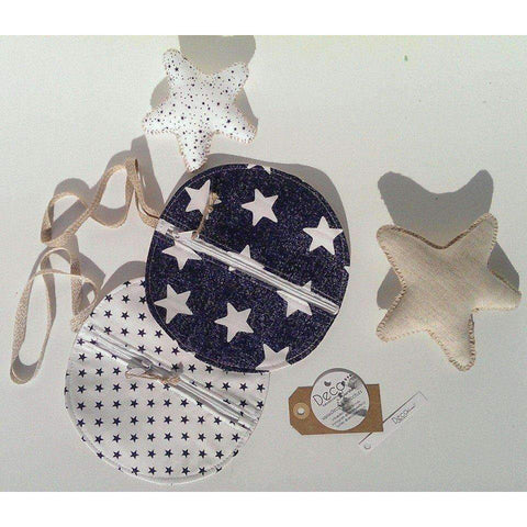 Pacifier Bag in Navy Star Print