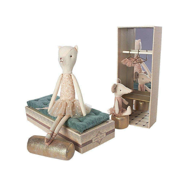 Maileg,Dancing Cat and Mouse in Shoebox,CouCou,Toy
