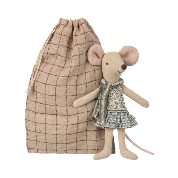 Maileg,Winter Mouse Big Sister in Bag,CouCou,Toy