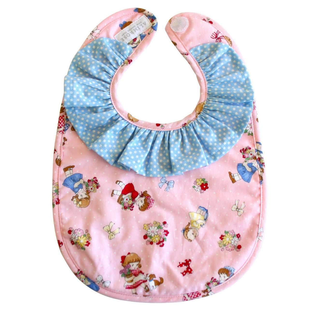 Alimrose,Ruffle Collar Bib in Nursery Print,CouCou,Baby Accessories
