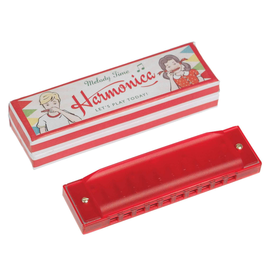 Rex,Red Harmonica in Box,CouCou,Toy