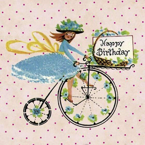 Penny Farthing Birthday Card