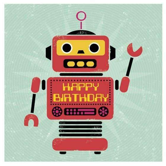 Rex,Robot Birthday Card,CouCou,Crafts & Stationary