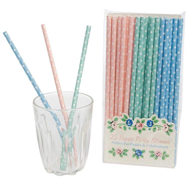 Rex,Spotty Rambling Rose Paper Straws,CouCou,Party