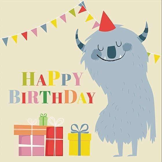 Rex,Monsters Birthday Card,CouCou,Crafts & Stationary