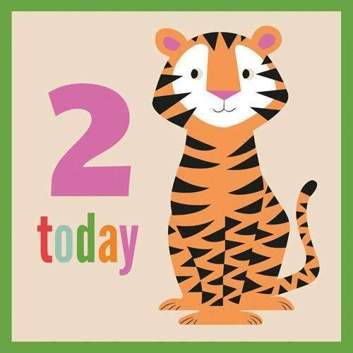 Rex,Colorful Creatures Tiger Card,CouCou,Crafts & Stationary