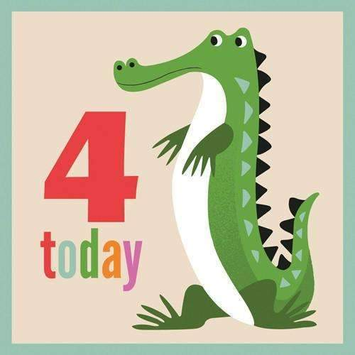 Rex,Colorful Creatures Crocodile Card,CouCou,Crafts & Stationary