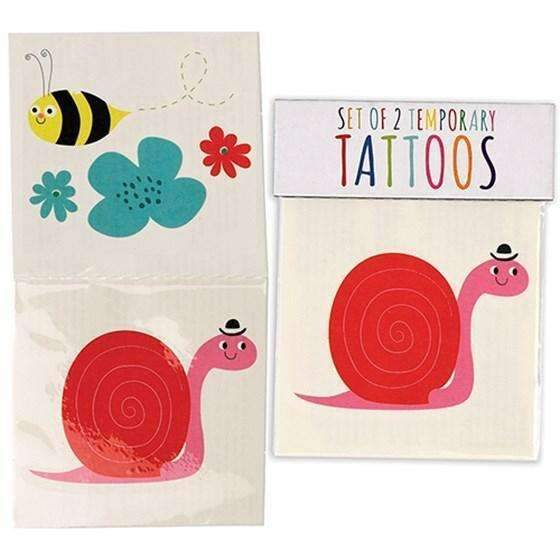 Rex,Set of 2 Snail and Bee Tattoos,CouCou,Girl Accessories & Jewellery