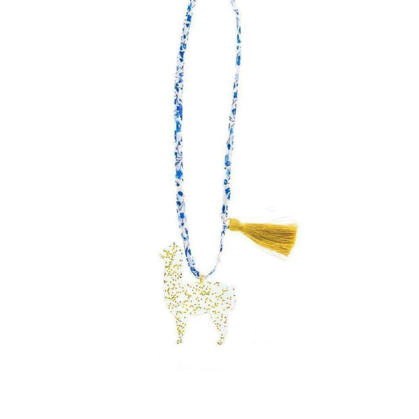 Gunner & Lux,Goldie the Alpaca Necklace,CouCou,Girl Accessories & Jewellery