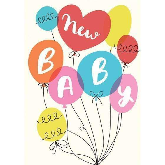 Rex,Party Balloons New Baby Card,CouCou,Crafts & Stationary