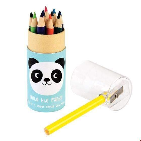 Rex,Set of 12 Small Miko the Panda Coloring Pencils,CouCou,Arts & Crafts