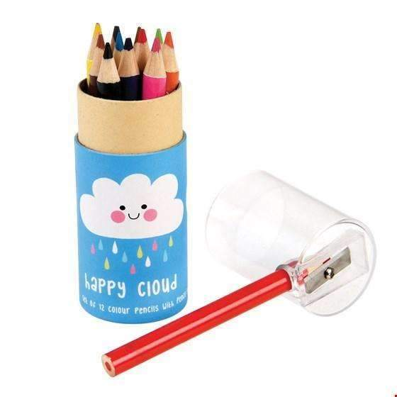 Rex,Set of 12 Small Happy Cloud Coloring Pencils,CouCou,Arts & Crafts