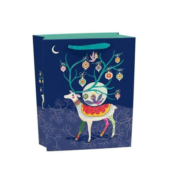 Roger La Borde,Gift Bag, Medium Reindeer,CouCou,Crafts & Stationary