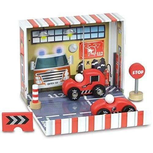 Vilac,Firefighter Box Kit with Wooden Accessories,CouCou,Toy