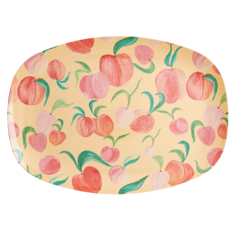 Rectangular Plate with Peach Print