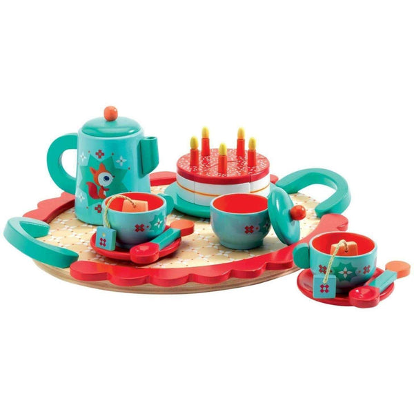 Djeco,Fox's Party Tea Set,CouCou,Toy