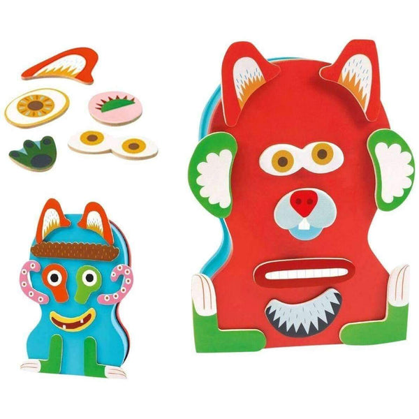 Djeco,Monster Wooden Magnetic Animo,CouCou,Toy