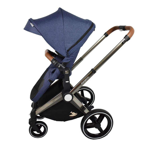 Kangaroo Stroller, Denim Blue