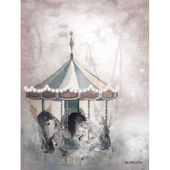 Mrs. Mighetto,2-Pack Miss Lola and Lost Carousel - 18x24cm Limited Edition Prints,CouCou,Nursery Art