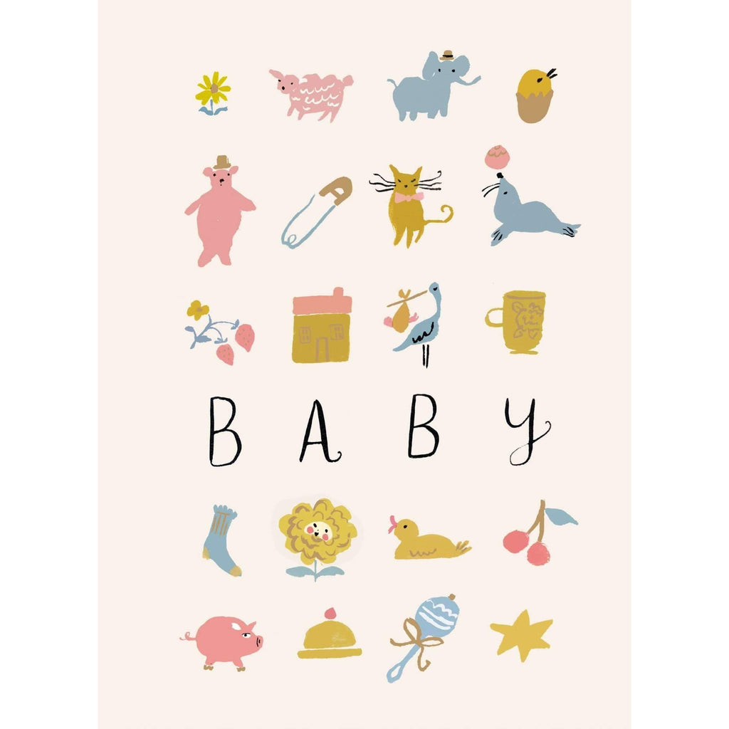 Roger La Borde,Baby Toys Greeting Card,CouCou,Crafts & Stationary