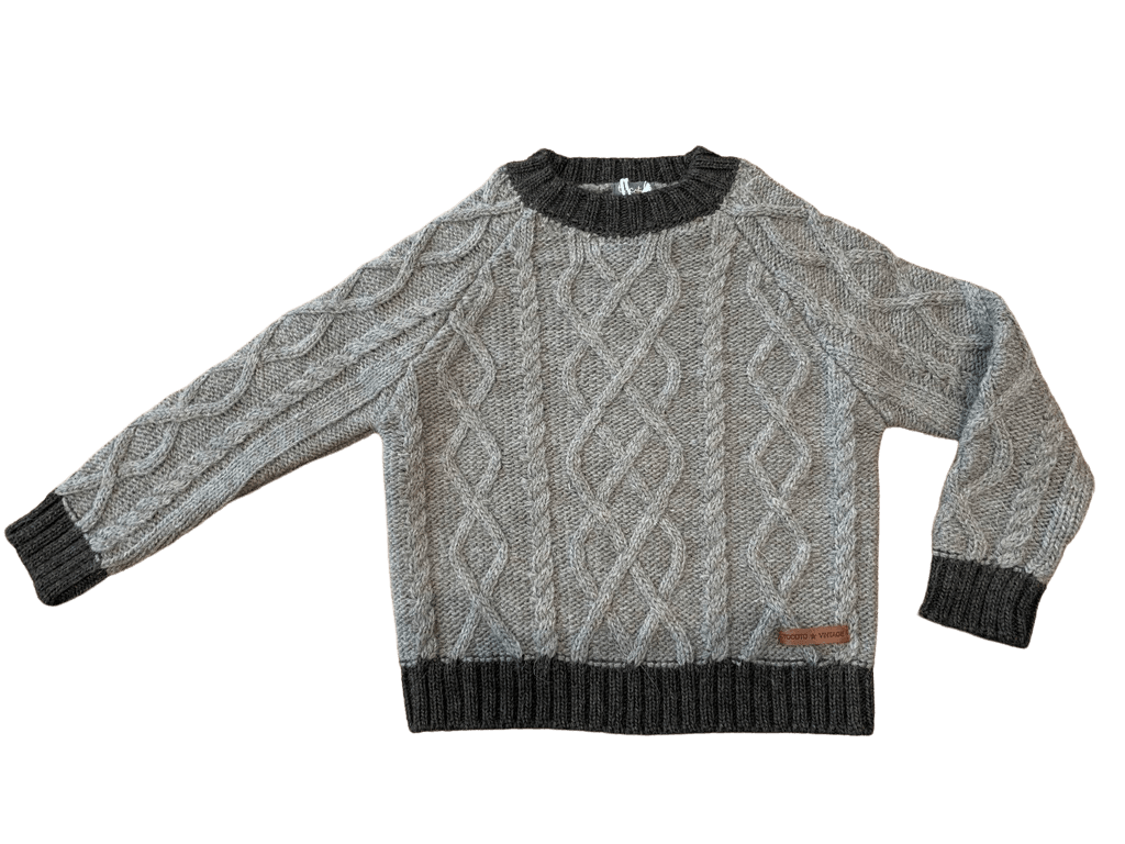 Contrast Sweater in Grey