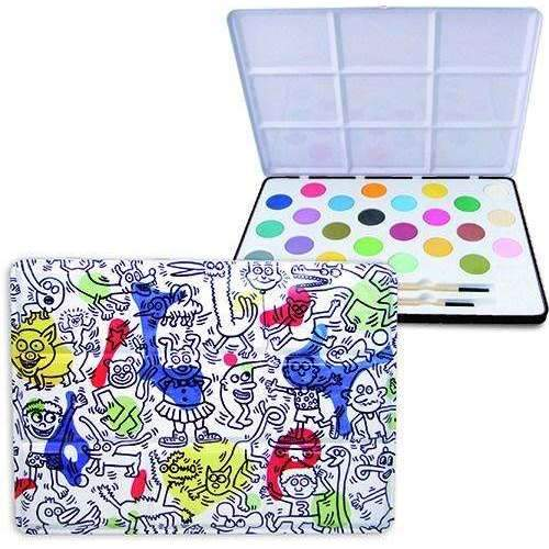 Vilac,Large Tin Watercolor Set, by Keith Haring,CouCou,Crafts & Stationary