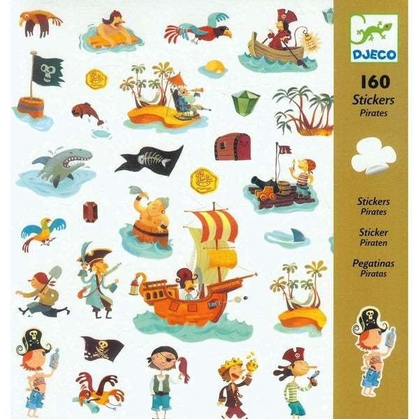 Djeco,Pirate Stickers,CouCou,Arts & Crafts