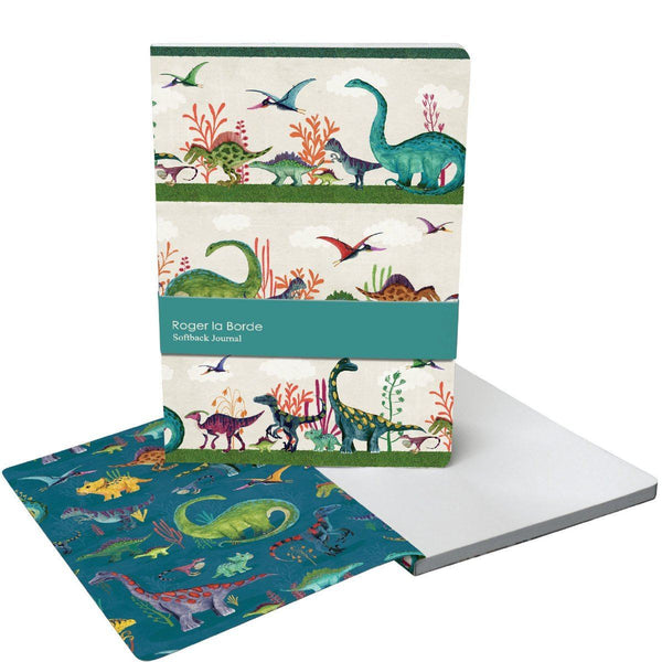 Medium Soft Cover Journal in Dino Mighty