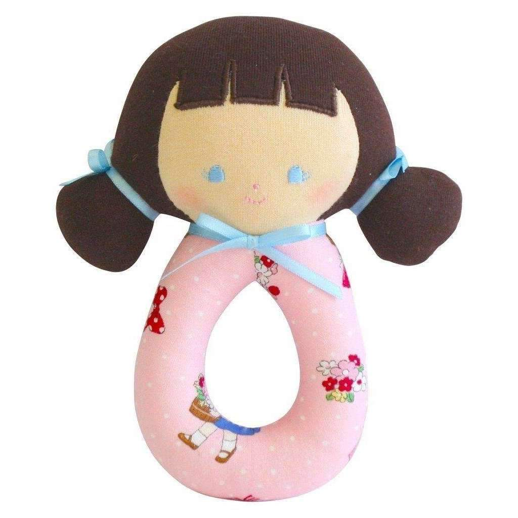Alimrose,Audrey Grab Rattle in Pink Nursery,CouCou,Toy