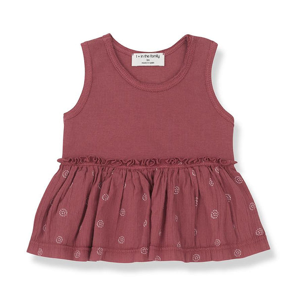 One more In The Family,Barletta Blouse in Red,CouCou,Baby Girl Clothes