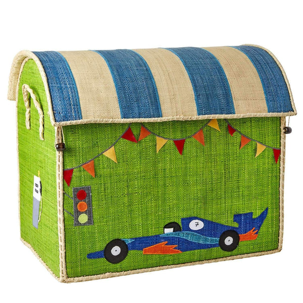 RICE,Large Toy Basket in Race Car Design,CouCou,Home/Decor
