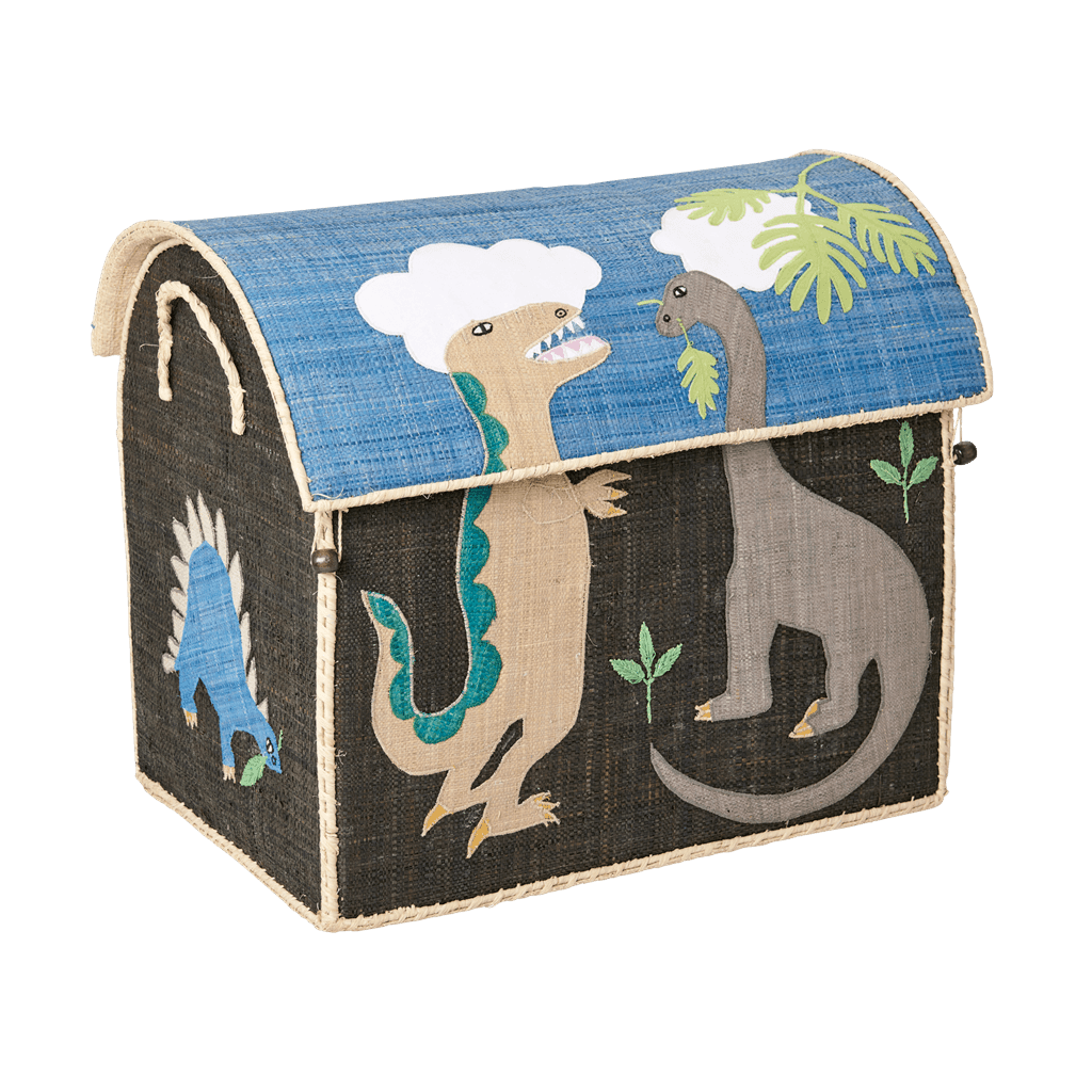 RICE,Large Toy Basket in Dinosaur Design,CouCou,Home/Decor