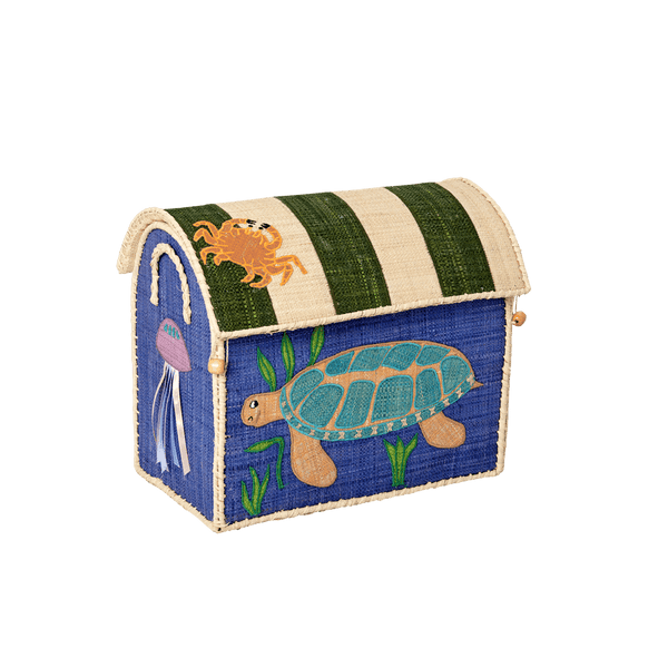RICE,Small Toy Basket in Sea Animals Design,CouCou,Home/Decor