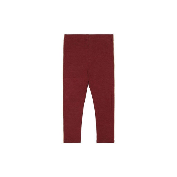 Baby Paula Leggings in Oxblood Red