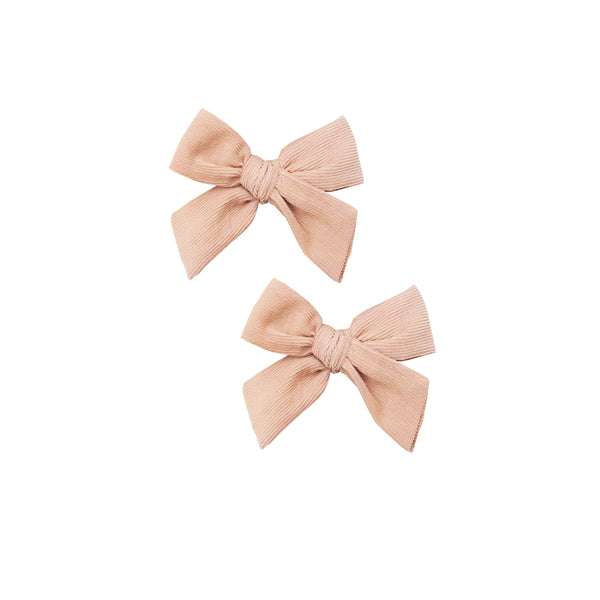 Wild Wawa,Corduroy Pigtail Bow Set in Dusty Pink,CouCou,Girl Accessories & Jewellery