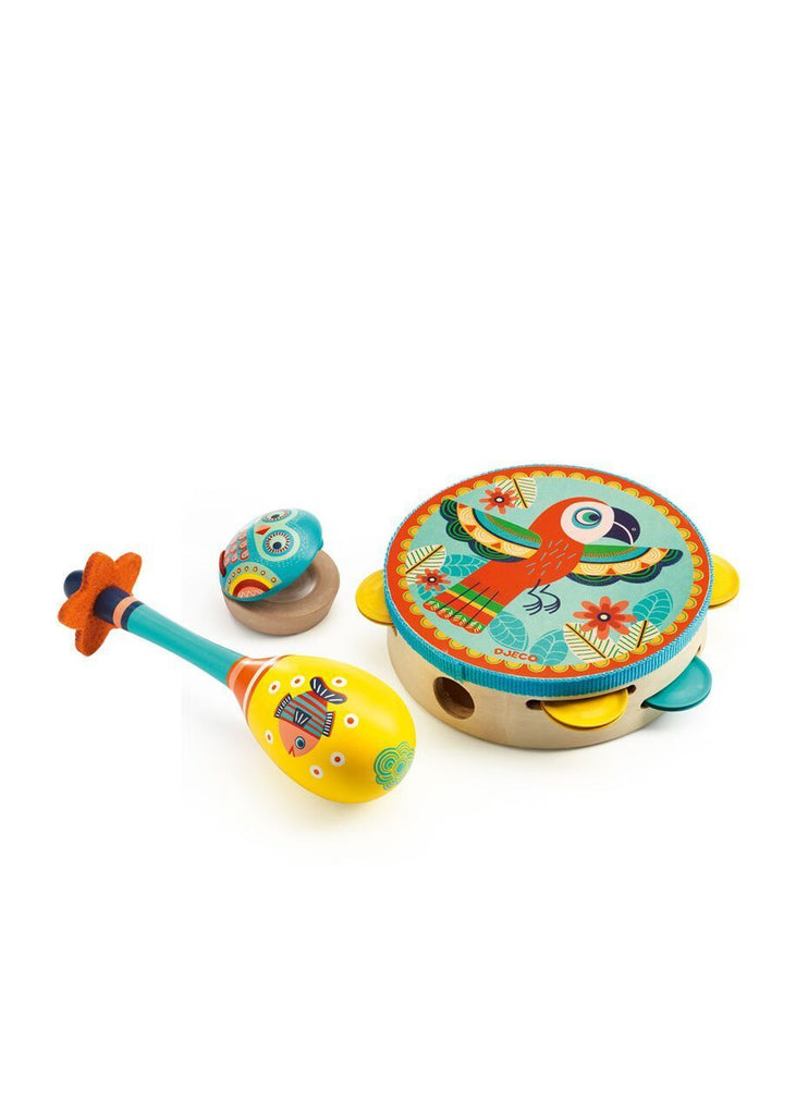 Djeco,Animambo Set of 3 Instruments,CouCou,Toy