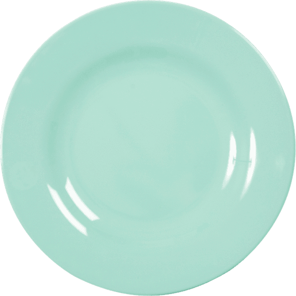 RICE,Kids Melamine Dinner Plate, Dark Mint,CouCou,Kitchenware