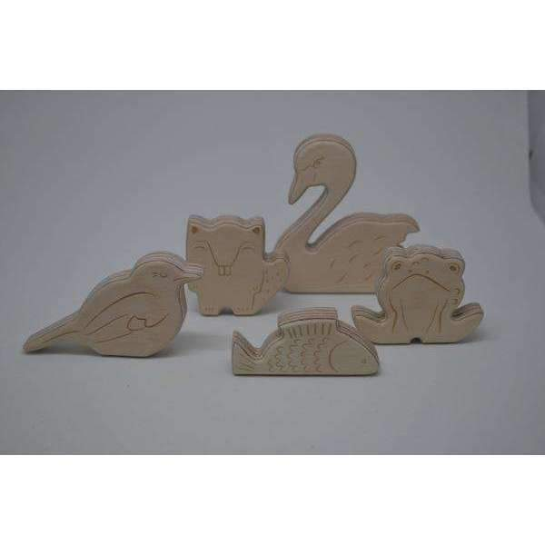 Loullou,Wooden Pond Animals,CouCou,Toy