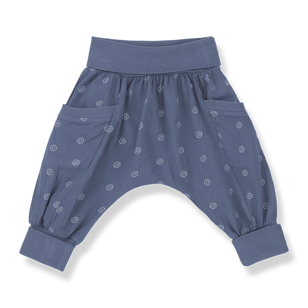 One more In The Family,Gaia Pants in Azzurro,CouCou,Baby Girl Clothes