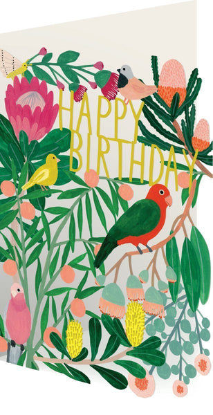Roger La Borde,Parrot Birthday Laser Greeting Card,CouCou,Crafts & Stationary
