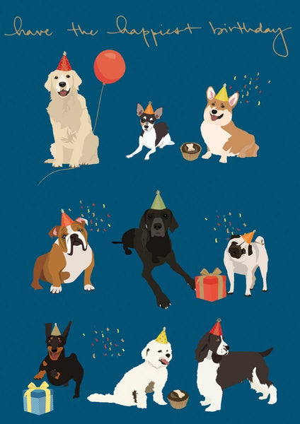 Roger La Borde,Birthday Card, Dogs with Hats,CouCou,Crafts & Stationary