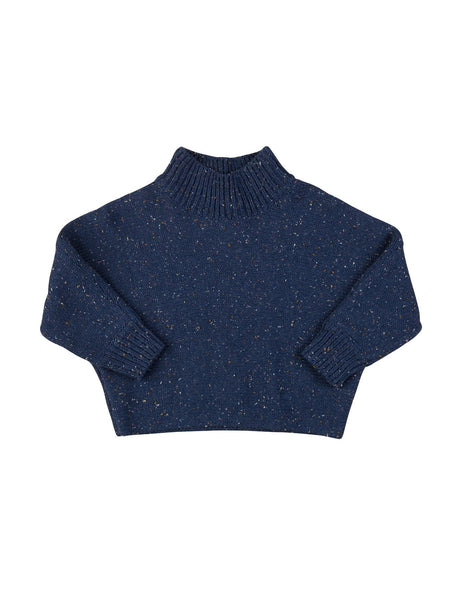 Sprinkles Knit Sweater in Dark Blue
