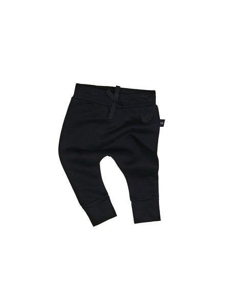 Huxbaby,Black Drop Crotch Pant,CouCou,Baby Boy Clothes