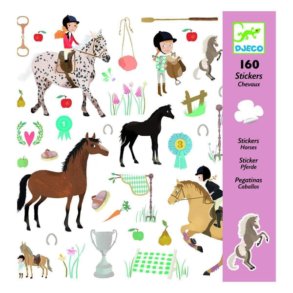 Djeco,Horses Stickers,CouCou,Arts & Crafts