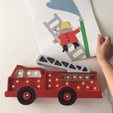 Little Lights,Firetruck Lamp,CouCou,Home/Decor