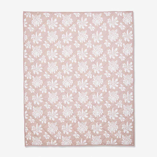 Lewis,Quilted Baby Blanket in Parsnip,CouCou,Home/Decor